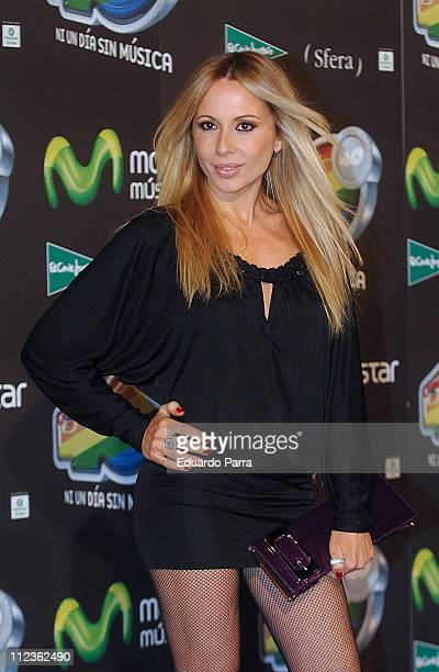 Marta Sanchez during 40 Principales Awards Gala Madrid at Palacio de los Deportes in Madrid Spain
