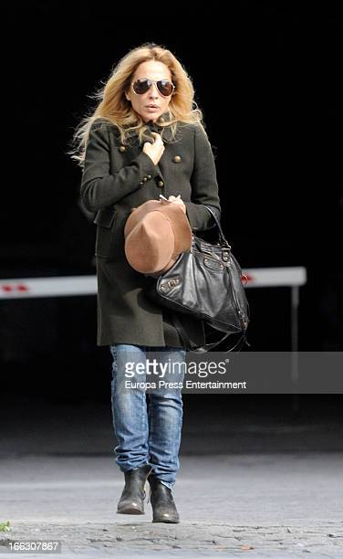 Marta Sanchez is seen on April 8 2013 in Madrid Spain