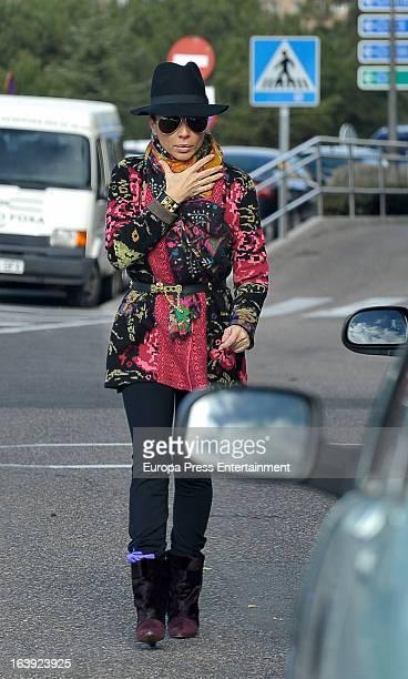 Marta Sanchez is seen on February 13 2013 in Madrid Spain