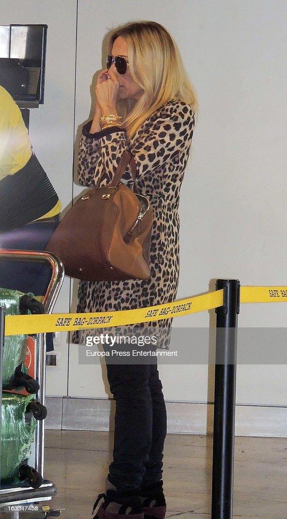 Marta Sanchez is seen on March 7, 2013 in Madrid, Spain.