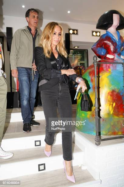 Marta Sánchez during the inauguration of the exhibition SMILE by Domingo Zapata and Alejandro Sanz in Madrid Spain 13 June 2018