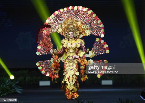 Marta Stepien Miss Canada 2018 walks on stage during the 2018 Miss Universe national costume presentation in Chonburi province on December 10 2018