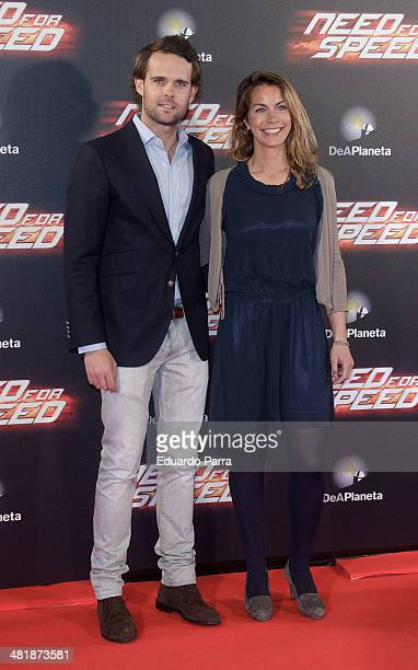 Marta Suria and Andy Soucek attend 'Need for speed' premiere photocall at Callao cinema on April 1 2014 in Madrid Spain