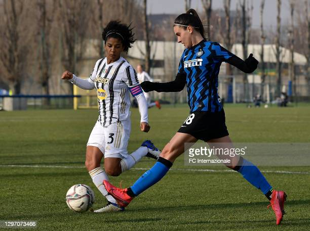 Marta Teresa Pandini of FC Internazionale in action during the Women Serie A match between FC Internazionale and Juventus at Suning Youth Development...