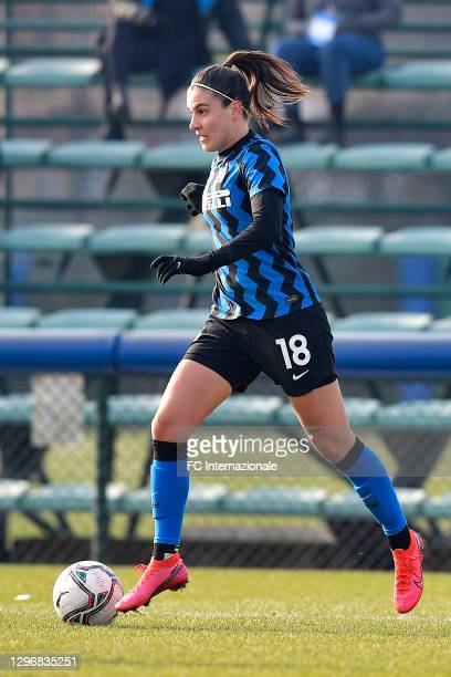 Marta Teresa Pandini of FC Internazionale in possession during the Women Serie A match between FC Internazionale and Juventus at Suning Youth...