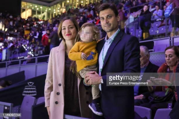 Marta Tornel, Leo Ferrer Tornel and David Ferrer attend Copa Davis Finals at Caja Magica on November 20, 2019 in Madrid, Spain.