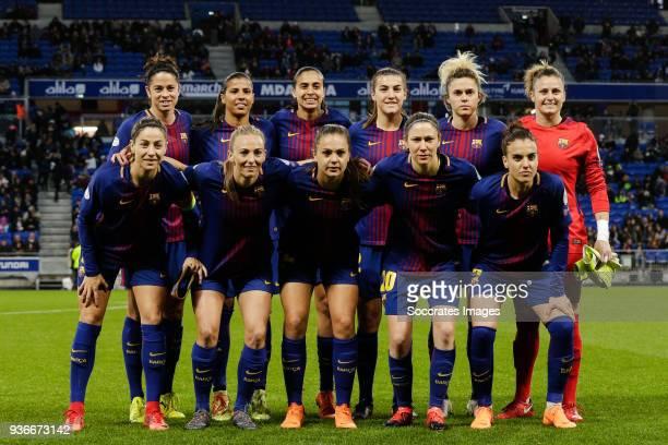 Marta Torrejon Moya of FC Barcelona Women Fabiana da Silva Simoes of FC Barcelona Women Andressa Alves of FC Barcelona Women Elise Bussaglia of FC...