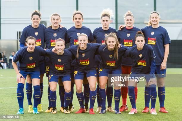 Marta Torrejon Moya of FC Barcelona women Patricia Guijarro Gutierrez of FC Barcelona women Natasa Andonova of FC Barcelona women Maria Pilar Leon...