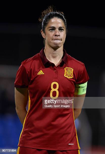 Marta Torrejon Moya of Spain looks on prior to the international friendly match between Spain Women and Netherlands Women at Pinatar Arena on January...