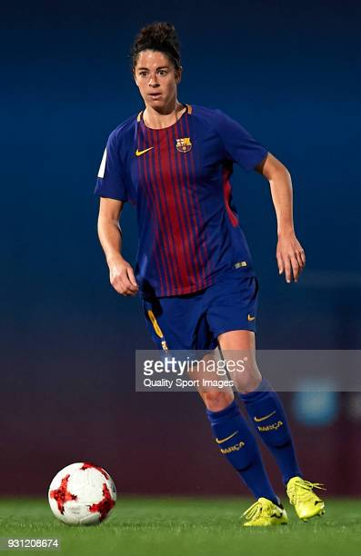 Marta Torrejon of Barcelona runs with the ball during the Liga Femenina match between FC Barcelona Women and Atletico de Madrid Women at Ciutat...
