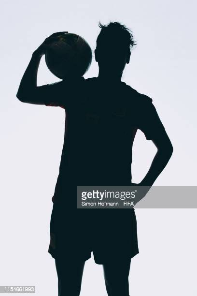 Marta Torrejon of Spain poses for a portrait during the official FIFA Women's World Cup 2019 portrait session at Hotel Barriere Le Normandy on June...