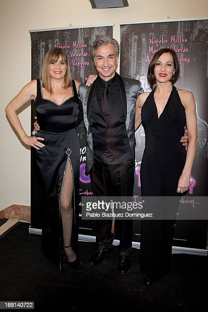 Marta Valverde Alberto Vazquez and Natalia Millan attend 'Hacemos un Trio' photocall at Teatro Nuevo Alcala on May 20 2013 in Madrid Spain