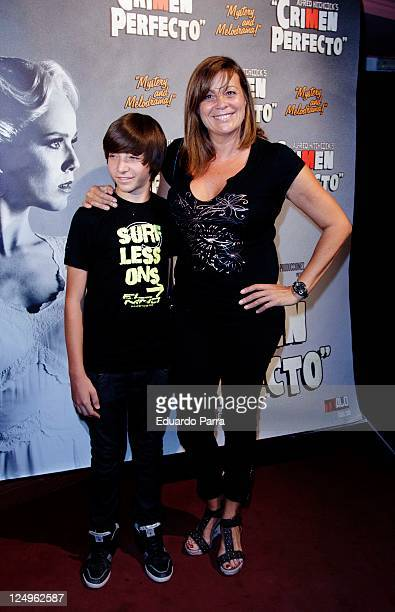 Marta Valverde and sin attend the Crimen Perfecto premiere photocall at Reina Victoria theatre on September 14 2011 in Madrid Spain