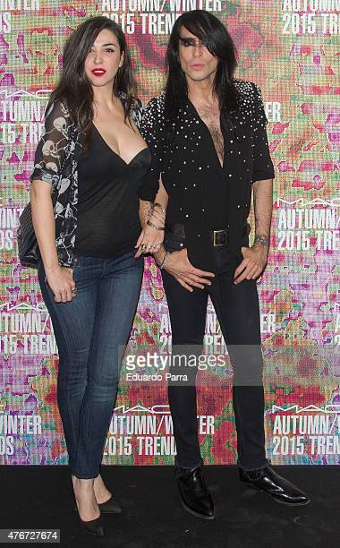 Marta Vaquerizo and Mario Vaquerizo attend MAC new trends party photocall at the Association of Architects on June 11 2015 in Madrid Spain