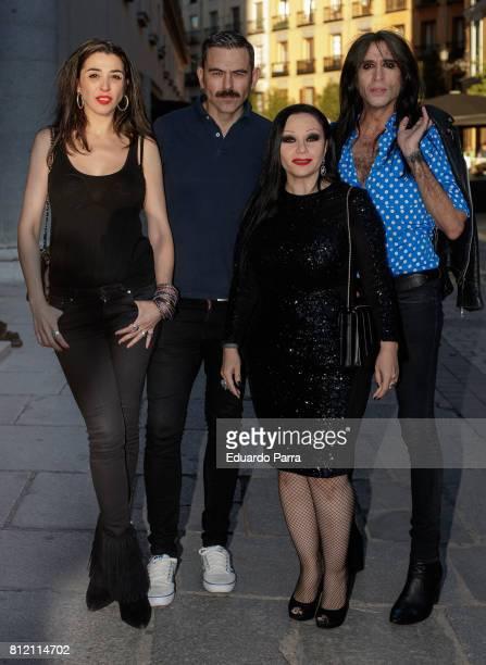 Marta Vaquerizo Olvido Gara AKA Alaska and Mario Vaquerizo attend the 'Pet Shop Boys' concert at Royal Theatre on July 10 2017 in Madrid Spain
