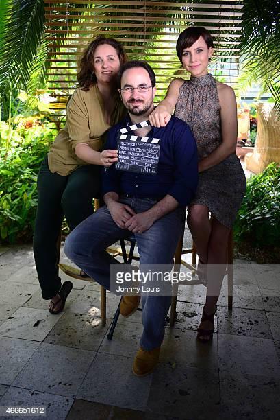 Marta Velasco Gonzalo Bendala and Aura Garrido pose during the 2015 Miami Dade College's Miami International Film Festival at The Standard Hotel Spa...