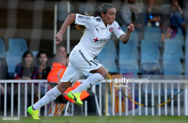 Marta Vieira da Silva during the match between FC Barcelona and Rosengard corresponding to the 1/4 final of the UEFA womens Champions League on 29...