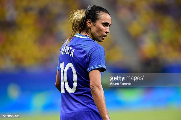 Marta Vieira da Silva player of Brazil at Arena Amazonia on August 9 2016 in Manaus Brazil