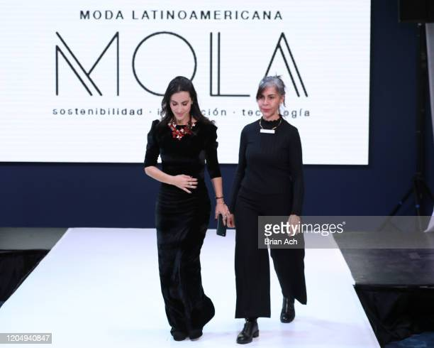 Martalia Jewekry and Carro designers walk the runway for EILEAN during NYFW Powered By hiTechMODA on February 08, 2020 in New York City.