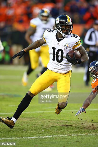 Martavis Bryant of the Pittsburgh Steelers in action during the game against the Denver Broncos at Sports Authority Field At Mile High on January 17...