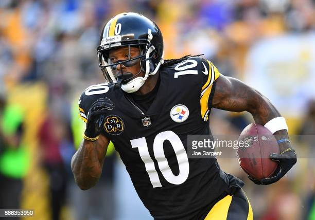 Martavis Bryant of the Pittsburgh Steelers in action during the game against the Cincinnati Bengals at Heinz Field on October 22 2017 in Pittsburgh...