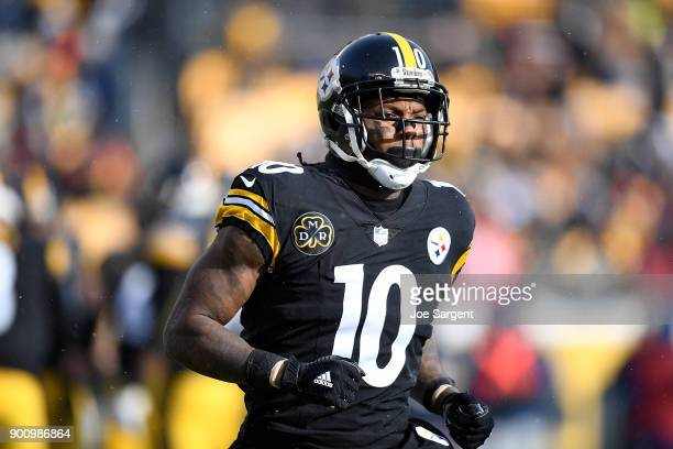 Martavis Bryant of the Pittsburgh Steelers in action during the game against the Cleveland Browns at Heinz Field on December 31, 2017 in Pittsburgh,...