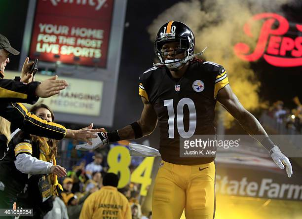 Martavis Bryant of the Pittsburgh Steelers is introduced during the Wild Card game against the Baltimore Ravens on January 3, 2015 at Heinz Field in...