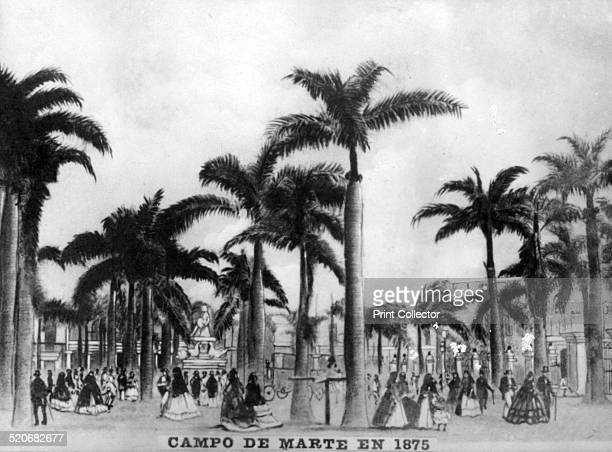 Marte Camp in 1875 The camp of Marte was ordered to be built in 1740 In this location today is The Plaza of Fraternity Cigar card from the History of...