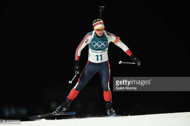 Marte Olsbu of Norway competes during the Women's Biathlon 75km Sprint on day one of the PyeongChang 2018 Winter Olympic Games at Alpensia Biathlon...