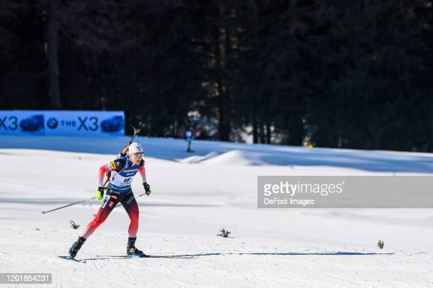 Marte Olsbu Roeiseland of Norway in action competes during the Women 15 km Individual Competition at the IBU World Championships Biathlon...
