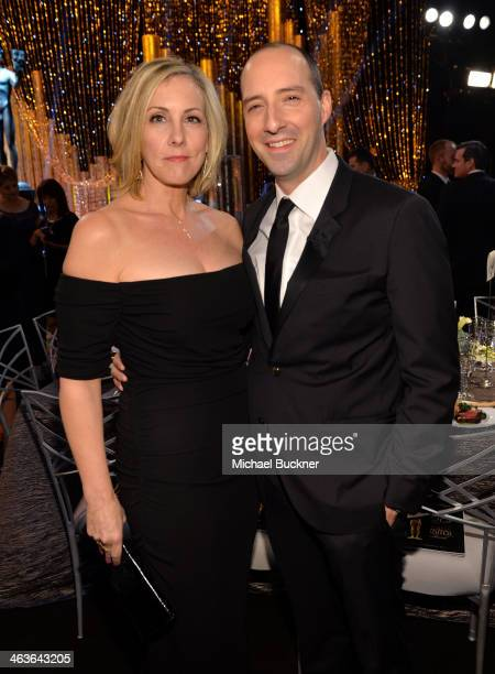 Martel Thompson and actor Tony Hale in the audience during 20th Annual Screen Actors Guild Awards at The Shrine Auditorium on January 18 2014 in Los...