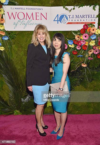 J Martell Foundation Laura Heatherly and CEO StriVectin Oeratin Company Inc JuE Wong attend the TJ Martell Foundation's Women of Influence Awards on...