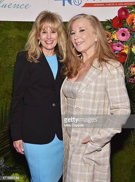 J Martell Foundation Laura Heatherly and designer Randi Rahm attend the TJ Martell Foundation's Women of Influence Awards on May 1 2015 in New York...