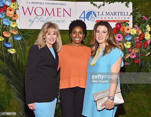 CEO TJ Martell Foundation Laura Heatherly Gillian Horsham and Designer Elaine Turner attend the TJ Martell Foundation's Women of Influence Awards on...