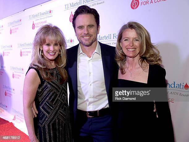 J Martell Foundation's Laura Heatherly Charles Esten and Patty Hanson attend the TJ Martell Foundation's 7th Annual Nashville Honors Gala at Omni...