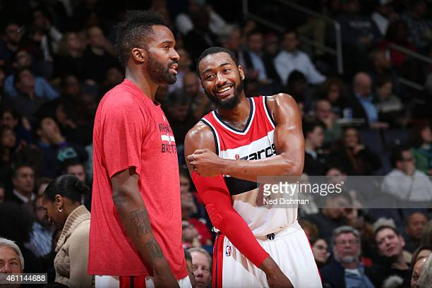 Martell Webster and John Wall of the Washington Wizardsduring the game on January 7 2015 at Verizon Center in Washington DC NOTE TO USER User...