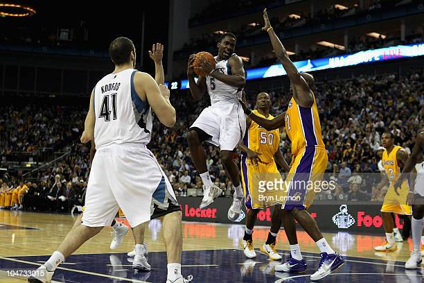 Martell Webster of the Minnesota Timberwolves in action during the NBA Europe Live match between the Los Angeles Lakers and the Minnesota...
