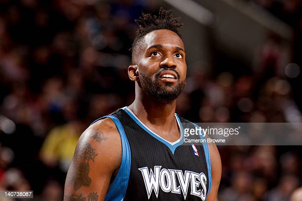 Martell Webster of the Minnesota Timberwolves plays against the Portland Trail Blazers on March 3 2012 at the Rose Garden Arena in Portland Oregon...