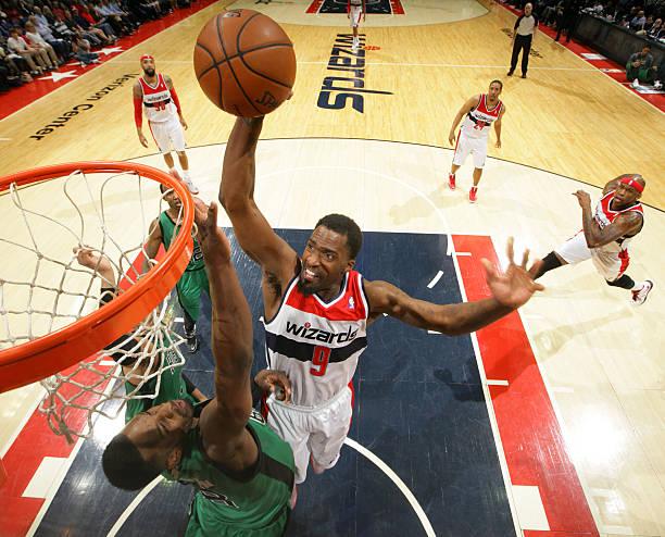Martell Webster of the Washington Wizards vs. Celtics.