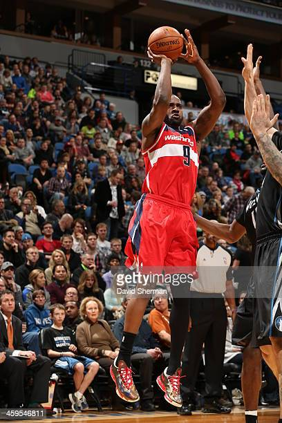 Martell Webster of the Washington Wizards shoots the ball against the Minnesota Timberwolves during the game on December 27 2013 at Target Center in...