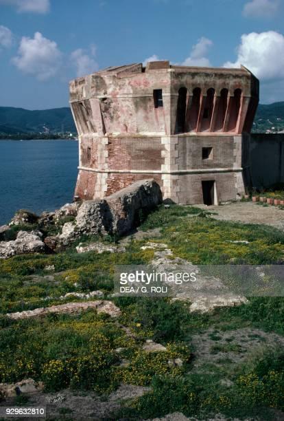 Martello Tower or Linguella Tower Portoferraio Elba Tuscan Archipelago national park Tuscany Italy 16th century