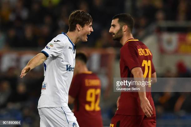 Marten De Roon of Atalanta BC celebrates after scoring the goal 02 during the serie A match between AS Roma and Atalanta BC at Stadio Olimpico on...