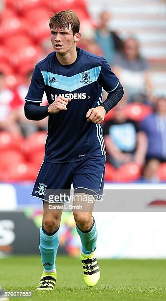 Marten de Roon of Middlesbrough in action during the preseason friendly match between Doncaster Rovers and Middlesbrough at Keepmoat Stadium on July...