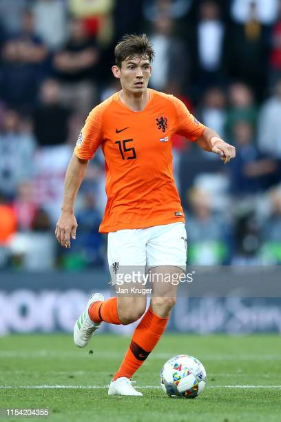 Marten de Roon of Netherlands during the UEFA Nations League SemiFinal match between the Netherlands and England at Estadio D Afonso Henriques on...