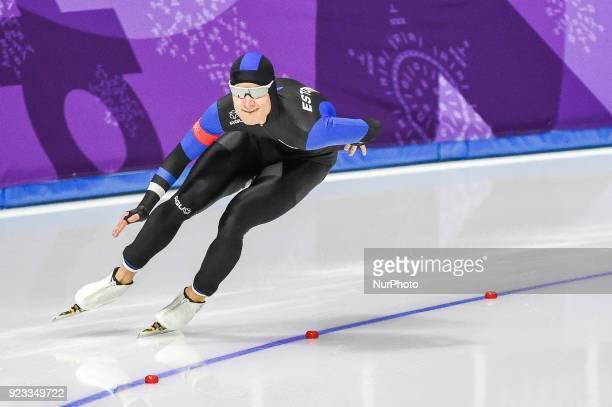 Marten Liiv of Estonia at 1000 meter speedskating at winter olympics Gangneung South Korea on February 23 2018