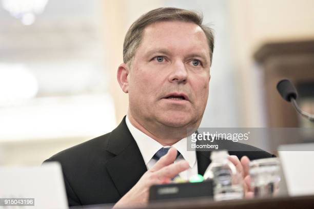 Marten Mickos chief executive officer of HackerOne Inc speaks during a Senate Commerce Science and Transportation Subcommittee hearing in Washington...