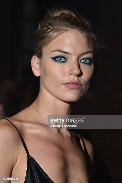 Marth Hunt attends the DKNY Women fashion show during New York Fashion Week The Shows September 2016 at High Line on September 12 2016 in New York...
