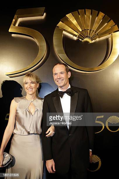 Martha and Ben Keswick attend Mandarin Oriental Hong Kong's 50th Anniversary Gala on October 17 2013 in Hong Kong