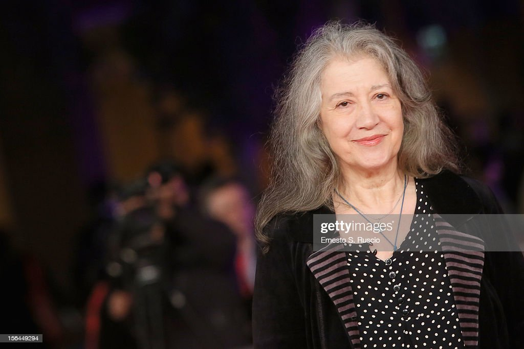 Martha Argerich attends the 'Bloody Daughter' Premiere during the 7th Rome Film Festival at the Auditorium Parco Della Musica on November 15, 2012 in Rome, Italy.