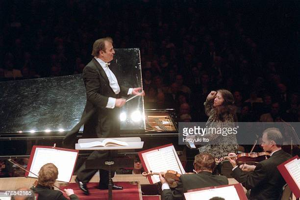 Martha Argerich performing Schumann's 'Piano Concerto' with the Philadelphia Orchestra led by Charles Dutoit at Carnegie Hall on Monday night April 8...